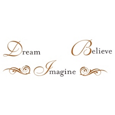 Dream Believe Imagine Wall Decal at Kirkland's