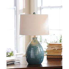 Giselle Blue Ceramic Table Lamp at Kirkland's