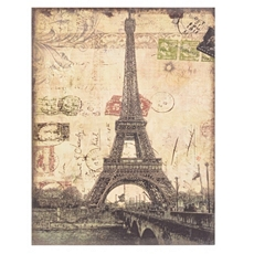 Eiffel Tower Linen Canvas Art Print at Kirkland's