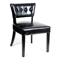 Black Leather Brittany Slipper Chair at Kirkland's