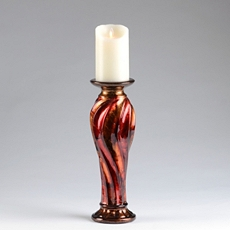 Red & Bronze Candle Holder, 14 in. at Kirkland's