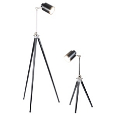 Spotlight Black Table & Floor Lamp Set at Kirkland's