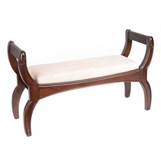 Walnut Royal Upholstered Bench at Kirkland's