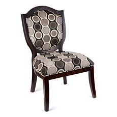Elise Black & Gray Accent Chair at Kirkland's