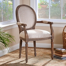 Vincent Ivory Paisley Arm Chair at Kirkland's