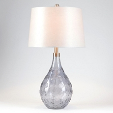 Gray Glass Table Lamp at Kirkland's