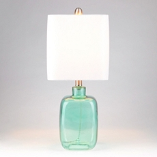 Turquoise Oasis Square Glass Table Lamp at Kirkland's