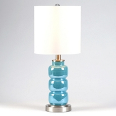3-Tier Blue Table Lamp at Kirkland's