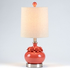 Red Flower Ceramic Table Lamp at Kirkland's