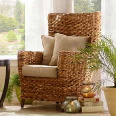 Tamayo High Back Wicker Arm Chair at Kirkland's
