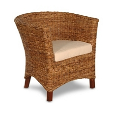 Serena Wicker Tub Chair at Kirkland's