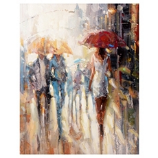 Rain On The Avenue Canvas Art Print at Kirkland's