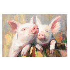 Pig Friendship Canvas Art Print at Kirkland's