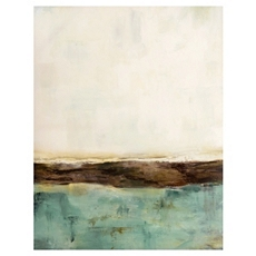 Teal Abstract Canvas Art Print at Kirkland's