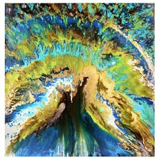 Peacock Abstract Canvas Art Print at Kirkland's