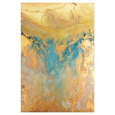 Blue & Gold Abstract Canvas Art Print at Kirkland's