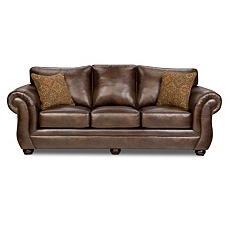 Gracia Chocolate Bonded Leather Sofa at Kirkland's