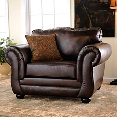 Gracia Chocolate Bonded Leather Arm Chair at Kirkland's