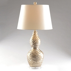 Twisted Silver Table Lamp at Kirkland's