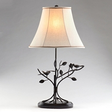 Bird & Leaf Bronze Table Lamp at Kirkland's