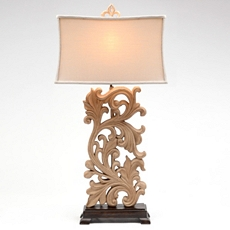 Scrolled Leaf Table Lamp at Kirkland's