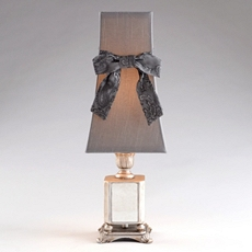 Vintage Silver Table Lamp with Bow at Kirkland's