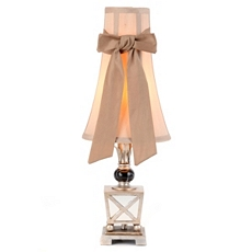 Antique Silver Table Lamp with Bow at Kirkland's