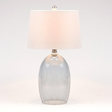 Blue Seeded Glass Table Lamp at Kirkland's