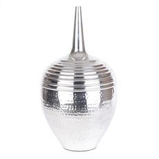 Textured Aluminum Floor Vase at Kirkland's