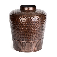 Temple Bronze Metal Floor Vase at Kirkland's