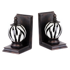 Black & White Glass Orb Bookend, Set of 2 at Kirkland's