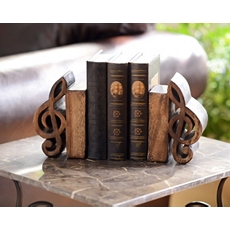 Music Notes Wood Bookend, Set of 2 at Kirkland's