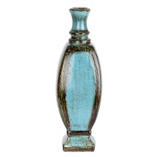Turquoise Distressed Ceramic Floor Vase at Kirkland's