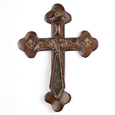 Budded Cross Metal Wall Plaque at Kirkland's