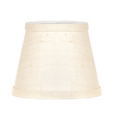 White Burlap Chandelier Shade at Kirkland's