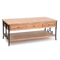 Wood & Metal 6-Drawer Coffee Table at Kirkland's