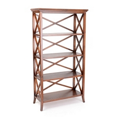Simon 4-Shelf Crossback Bookcase at Kirkland's