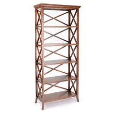 Simon 5-Shelf Crossback Bookcase at Kirkland's