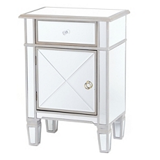 Silver Mirrored Nightstand at Kirkland's