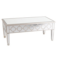 Silver Circles Mirrored Coffee Table at Kirkland's