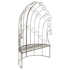 High Back Demilune Patio Bench at Kirkland's