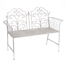 Gray Scroll Garden Bench at Kirkland's