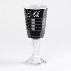 Black Mr. Party Cup Wine Glass at Kirkland's