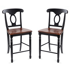 British Isle Black Counter Stool, Set of 2 at Kirkland's