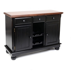 British Isle Black Wood Cabinet at Kirkland's