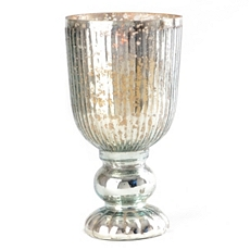 Ribbed Mercury Glass Hurricane, 10 in. at Kirkland's