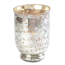 Crisscross Mercury Glass Hurricane, 10 in. at Kirkland's