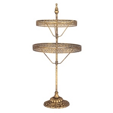 Gold 2-Tier Jewelry Holder at Kirkland's