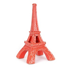 Red Eiffel Tower Stoneware Statue at Kirkland's