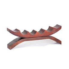 Wood 6-Bottle Tabletop Wine Holder at Kirkland's